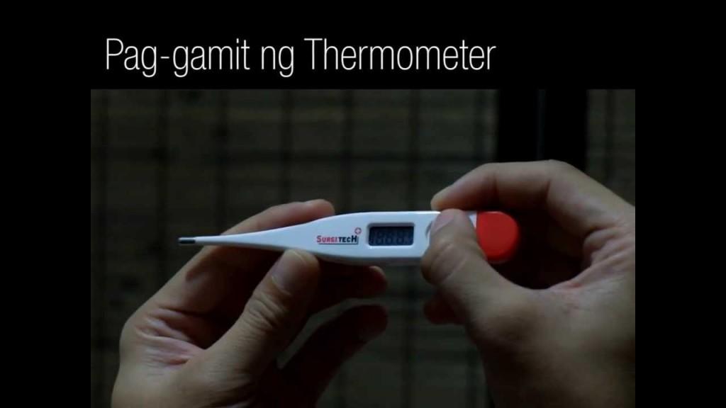 Pag-gamit ng Thermometer